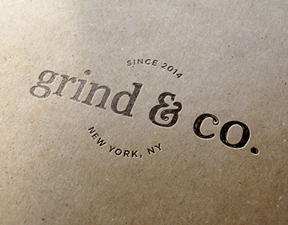 Grind & Co. Branding and Menu Design