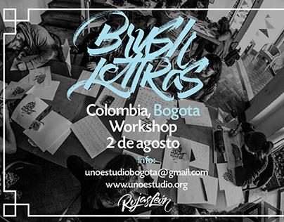 BOGOTA, COLOMBIA ! Workshop, BrushLettras.