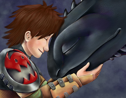 Digital Illustration: Hiccup and Toothless