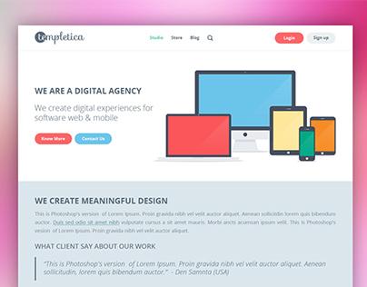 Templetica Website Redesign