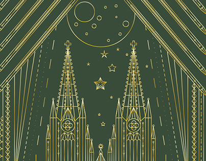 Römerturm – Cologne Cathedral Illustration
