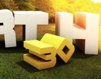 Earth typography 3D