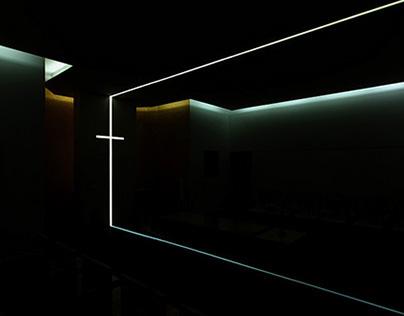 Religious minimalist interior design