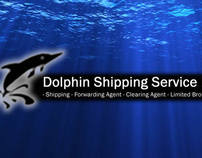 Dolphin Shipping Services website and business card