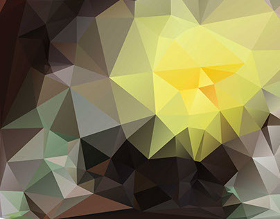 Low-poly yellow cactus bloom