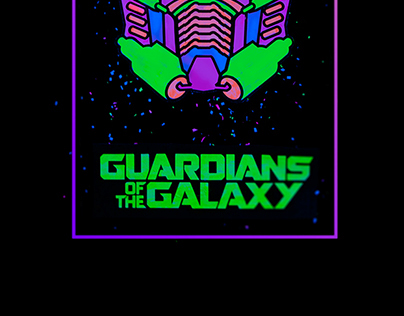 Guardians Of The Galaxy UV Poster