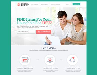 Treasure Depot Website Design
