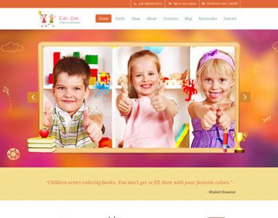 Kids Zone   Childern PSD