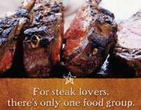 Texas Steakhouse Outdoor Board and FSI