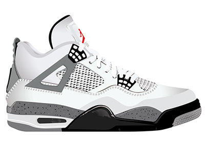 Nike Jordan - Cement IV's 1989 Retros Full Vector