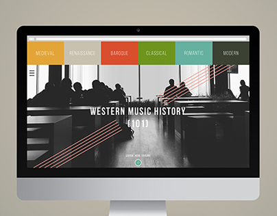 Music History 101 - Website & Infographic Design