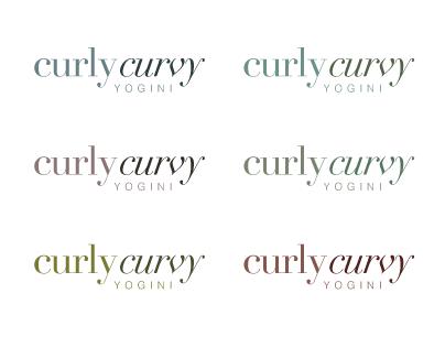 Curly Curvy Yogini Logo
