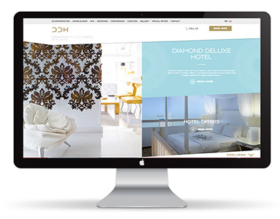 The Diamond Deluxe Hotel Website