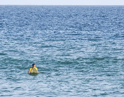 Surfing in West Coast, Dakar