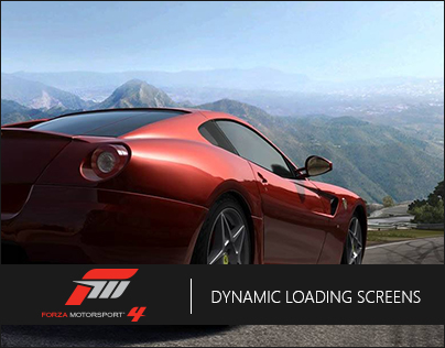Dynamic Loading Screens - Forza Motorsport 4