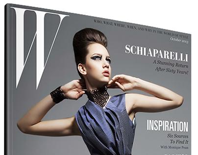 W Magazine Layout