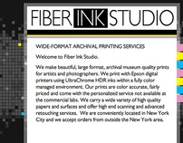 Web Design: Fiber Ink Studio
