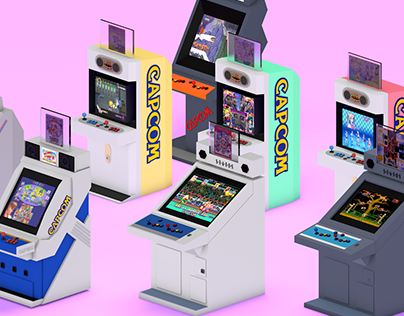 Low Poly - Isometric Arcade Cabinets