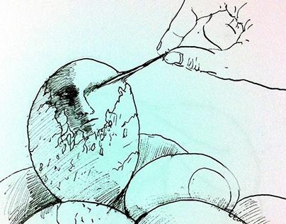 Bothering boiled egg