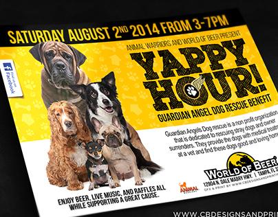 Yappy Hour | Dog Rescue Benefit Flyer Design