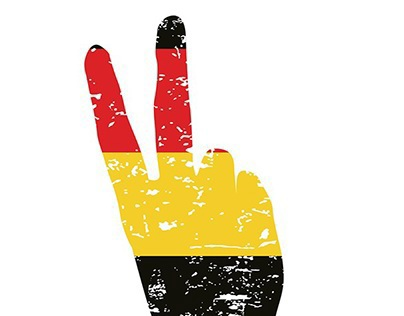 germany winner flag vector art