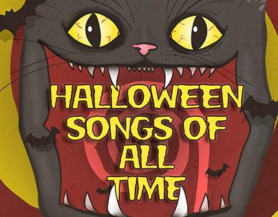 Halloween music album cover