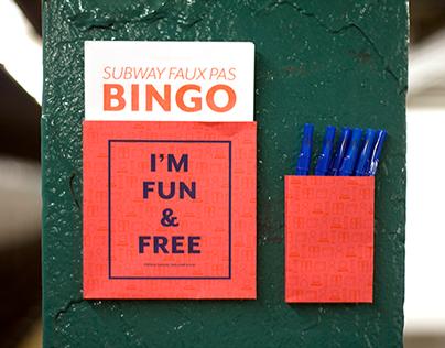 Subway Faux Pas Bingo