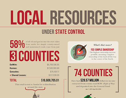 Infographic on Local Resources for DeWitt county