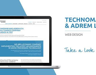 TECHNOMAR and ADREM LTD web design
