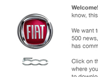 Fiat 500 concept email