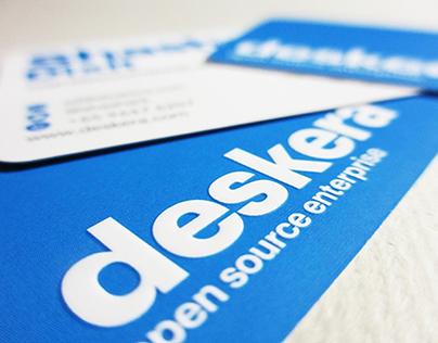 Deskera embossed business card design