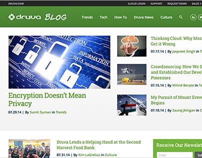 Druva.com/blog Redesign