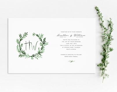 Into the woods wedding invite