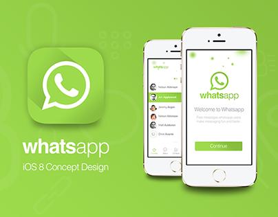 Whatsapp iOS 8 Concept Design