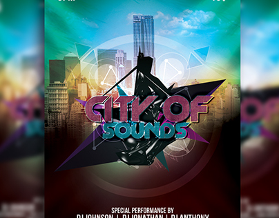 City of Sounds Flyer Template