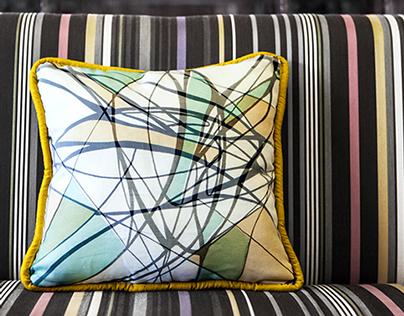 Reflection- Screen Printed Pillow