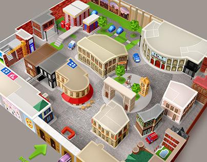 Минополис - карта города