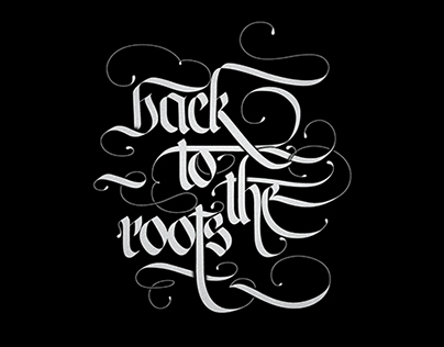 Back To The Roots Calligraphy