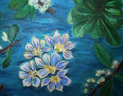 Naupaka Oil on Canvas 16x20
