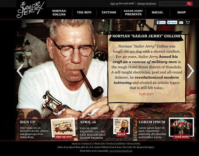 Sailor Jerry Web Site