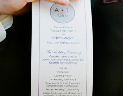 Wilson Wedding Program