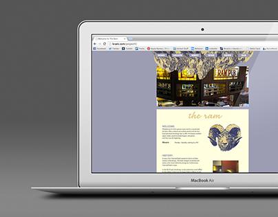 The Ram Website Menu Redesign