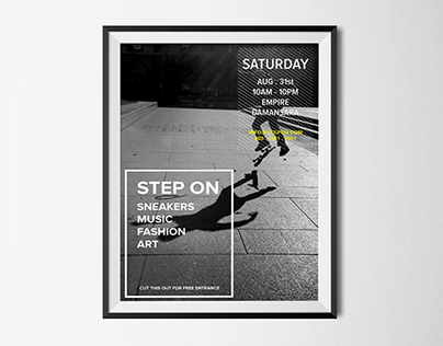 Step On Sneakers Flyer Design