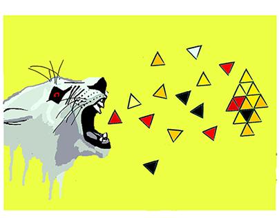 Tiger + triangles