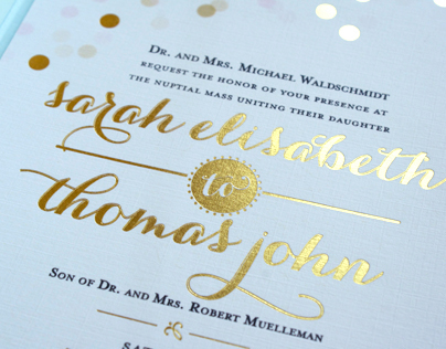 Waldschmidt/Muelleman Wedding Invitation