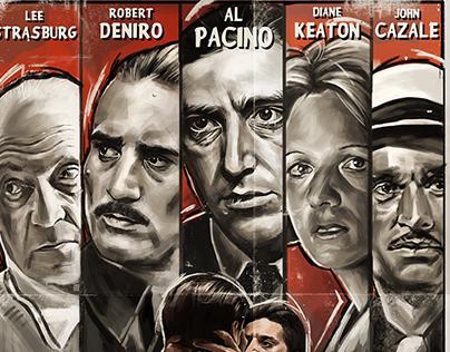 The Godfather Part II - Film Noir Poster