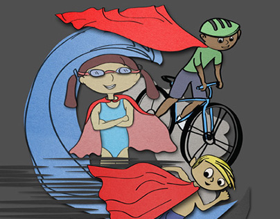 Kids Race Superhero Theme