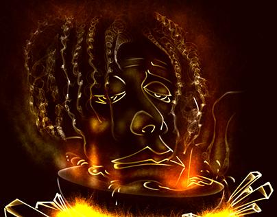 Flame Paintings by Devraj Baruah   Page 1