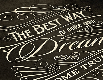 The Best Way | Typography poster