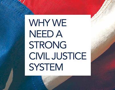 Civil Justice brochure